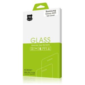 Стъклен протектор за Samsung Galaxy A02s (черна рамка с цяло лепило)