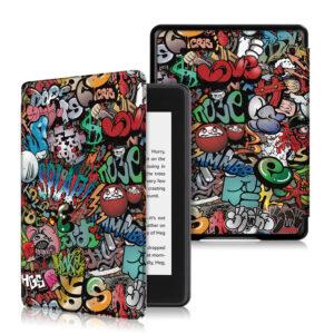 """Кожен калъф за Kindle Paperwhite 5 2021 6.8"""" - Графити"""