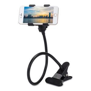 Гъвкава стойка за телефон за маса/бюро, метална щипка