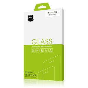 Стъклен протектор за Nokia G10 (черна рамка с цяло лепило)