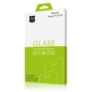 Стъклен протектор за Xiaomi Poco F3 (черна рамка с цяло лепило)